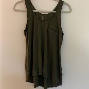 Gently used olive green tank top